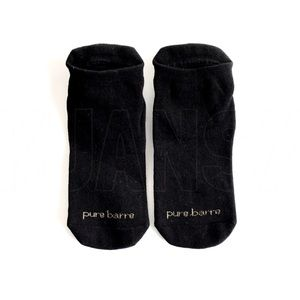 NWOT Pure Barre Gold Black Sticky Socks